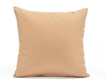 Solid Sand Beige Cushion, Throw Pillow Cover, Euro Sham Pillow Cover