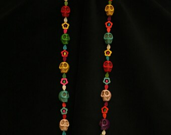 Day of the Dead, Large Sugar Skull Necklace.