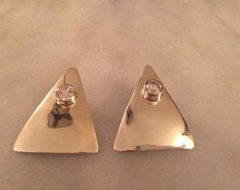 Vintage to-40 taxco sterling silver pierced earrings