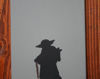 Star Wars Yoda Silhouette