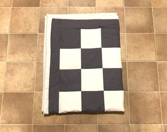 Checkered Baby Quilt / Crib Quilt / Lap Quilt / baby shower gift, baby gift, christmas gift