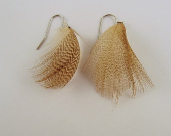 Feather Earrings Wood duck