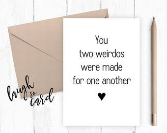 Marriage, engagement, mr and mrs card, congratulations card, congratulations, funny wedding card, wedding cards, marriage advice