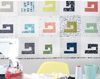 Sewing Machine Quilt Pattern - Printed