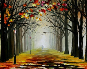 """Dark Paintings Landscape Wall Art On Canvas By Leonid Afremov - Almost Winter. Size: 36"""" X 24"""" Inches (90 cm x 60 cm)"""