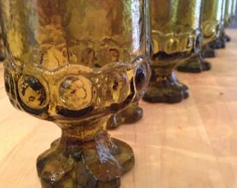 8 Franciscan Water Wine Glassware Madeira 1970s Vintage Barware Set of 8