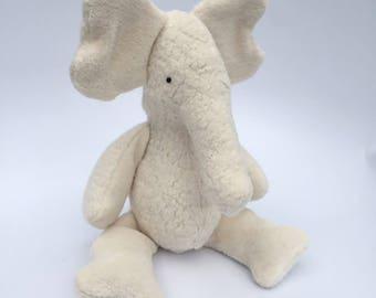 Eco Organic Natural Elephant Doll Stuffed Animal Toy