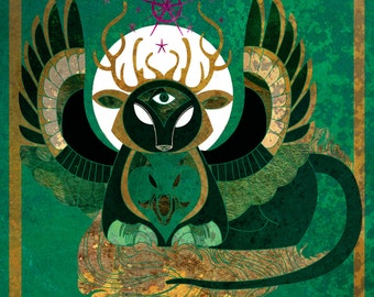 Astra Chimera - archaic fantasy illustration