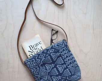 Shoulder Bag in Stencil - Cross Body Purse, Girlfriend Gift