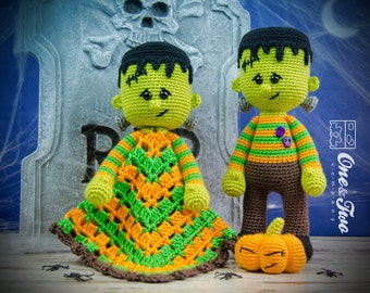 Combo Pack - Frankie Lovey and Amigurumi Set for 7.99 Dollars - PDF Crochet Pattern Instant Download - Special Offer