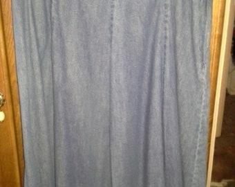 Womens short blue denim jean skirt by St. Johns Bay