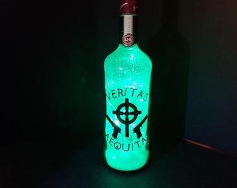Boondock Saints lighted bottle, St. Patrick's Day, Jameson bottle, Veritas Aequitas , Boondock Saints gift, Irish decor, Irish gift, jameson