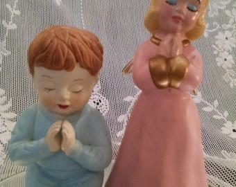 Sale Angel, Porcelain Angel girl,Praying angel, praying boy, vintage figurine, Vintage ceramic, Angel, Angel child, praying,girl angel