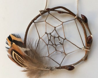 Willow Branch Dream Catchers with Cruelty Free Feathers by Lauren York Designs