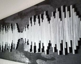 Chris Cornell Soundwave Wall Art - Soundwave Art - Soundgarden - Sunshower - Unique Gift Idea - Hospitality Art - Hotel Art
