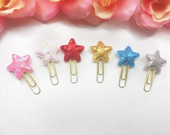 Star Paperclips / Star Planner Clips / Planner Paperclips