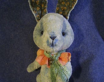 Artist bunny rabbit Teddy Grishka toy Teddy Vintage bunny toy  Plush bunny