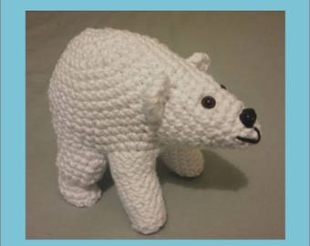 Plush - Toy - AMIGURUMI - polar bear - crochet