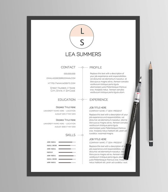 Resume Template No. 13 // Creative CV & Cover Letter // Modern