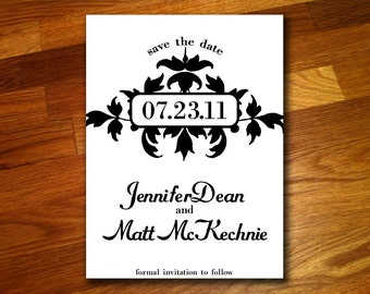 100 Decorative Save the Date Postcards