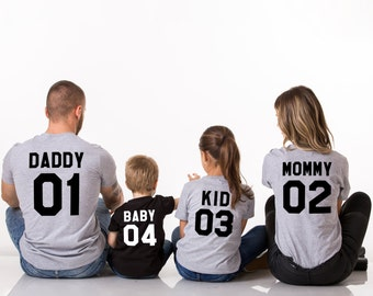 Family Shirts, Family T-Shirts, Mommy Daddy Baby Kid family shirts, Matching Family Shirts, Family tshirts, Family Outfit, UNISEX