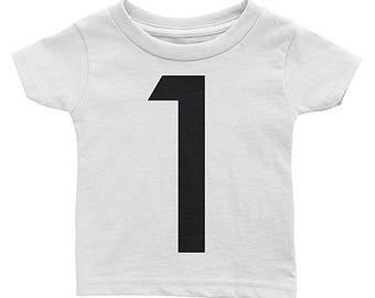 One Birthday T-Shirt - 1st Birthday Shirt - 1st Birthday Outfit - 2nd Birthday Outfit - 3rd Birthday Outfit - Any Numbers Birthday Kids Tee