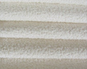 Quality VIS1/SCM - Viscose -1/4 yard (Fat) in Intercal's Color 100 - White. A German Viscose Fur Fabric for Teddy Bear Making, Arts & Crafts