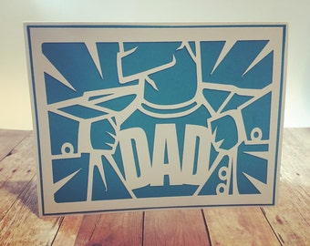 Handmade Super Dad Father's Day Greeting Card