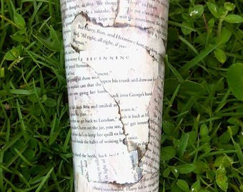 Harry Potter Book Page Tumbler