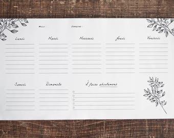 Weekly Planner - blocks notes 52 weeks - weekly - Organizer - Weekly Planner