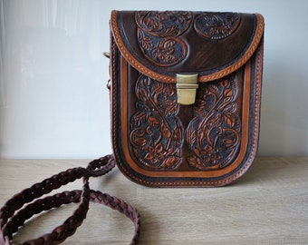 Leather bag Forest