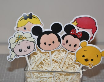 Tsum Tsum Cupcake Toppers Set of 12