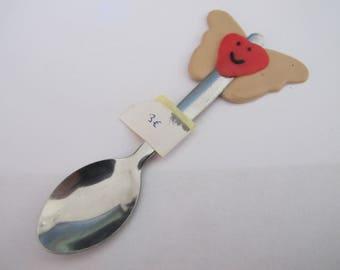Winged heart spoon