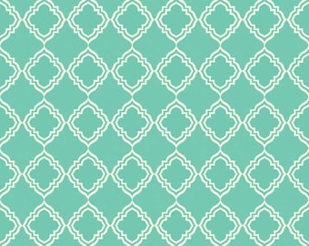 Geometric in Teal Extravaganza Fabric - 1 Yard
