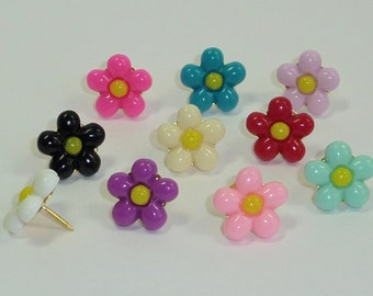 Decorative Push Pins, Daisy Drawing Pins, Flower Drawing Pins, Cork Board Pins, Thumbtacks, Pin Board Pins, Teachers Gift