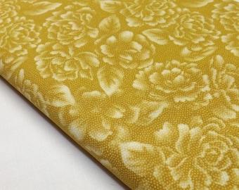 Quilting Cotton, Robert Kaufman, Fusions, Fabric, Ochre, Yellow, Quilt, Designer Fabric, Quilting Fabric, Apparel Fabric, Cotton Fabric,