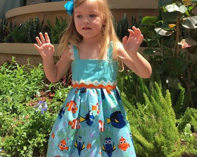Finding Dory Hattie Dress Birthday Vacation Photo Dress Baby Girls Toddler Dress