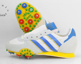 NOS Adidas Adi Star Competition shoes / Vintage Track Field Spikes / Deadstock Sport shoes / Made in Yugoslavia 1980s