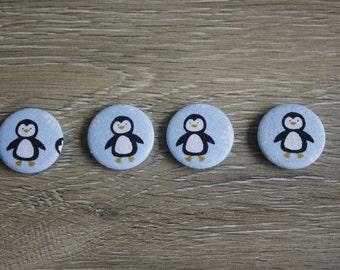 Penguin magnets, magnet set, penguin print, penguin gifts, penguin lover gifts, new home gifts, housewarming, fridge magnets