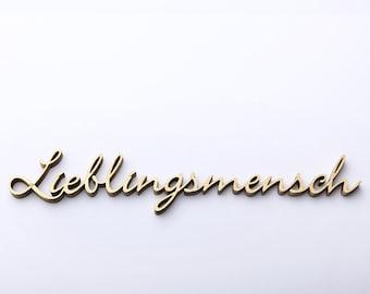 Lieblingsmensch - 3D wood lettering