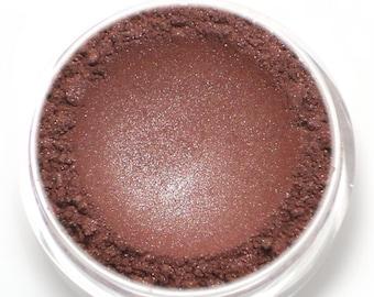 "Frosty Burgundy Red Eyeshadow - ""Roseberry"" - Vegan Mineral Eyeshadow Net Wt 2g Mineral Makeup Eye Color Pigment"