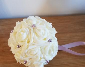 "3"" - 8 "" Wedding Pomander, Wedding Flower Balls, Flower Girl Kissing Ball,  Bouquet Alternative"