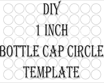"SVG Blank Bottle Cap Circle Template Printable ~ 4 File DIY 1"" Round Create Party Favors, Clip Art for Neckace Pendant, Altered Art Collage"