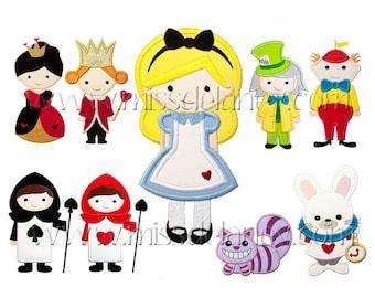 Alice in Wonderland Applique Designs