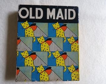 Old Maid Milton Bradley Card Game - 1937 Children's Game