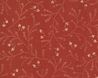 Moda French General Favorites Red with Cream Floral Flower Fabric 13552-14 BTY