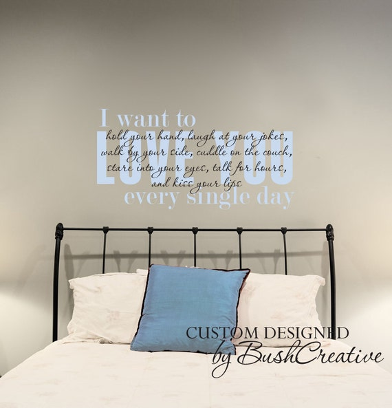 Items Similar To Wall Decal I Love You Master Bedroom