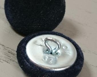 Dark Blue Velvet Buttons,