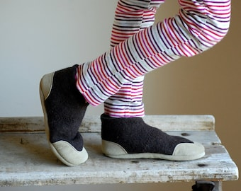 Kids Wool Shoes, Soft Soled and Eco-friendly, kids size 7.5, Riding Ponies, SALE
