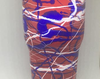 30oz red, white and blue tumbler
